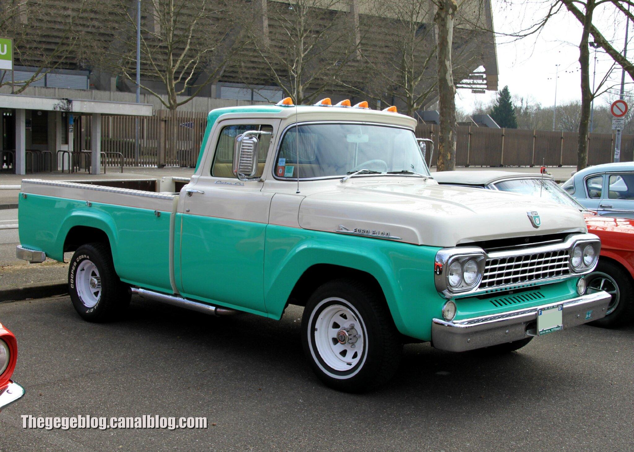 Ford f100 pick up de 1958 retrorencard avril 2013