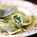 Schlutzkrapfen : ravioli farcis aux épinards