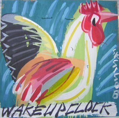 STEVE KEENE Wake up clock 2008 40 x 40
