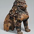 Guardian lion-dogs, japan, kamakura period (1185–1333), mid-13th century
