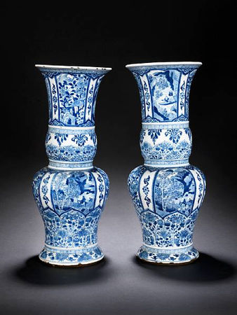 A_pair_of_blue_and_white_flaring_vases