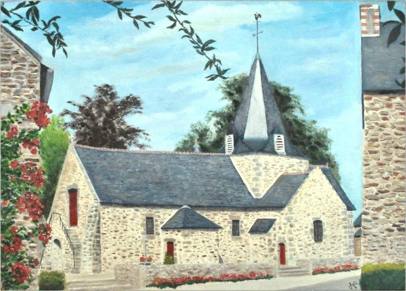 -2008- Eglise de Bretagne -46x33-