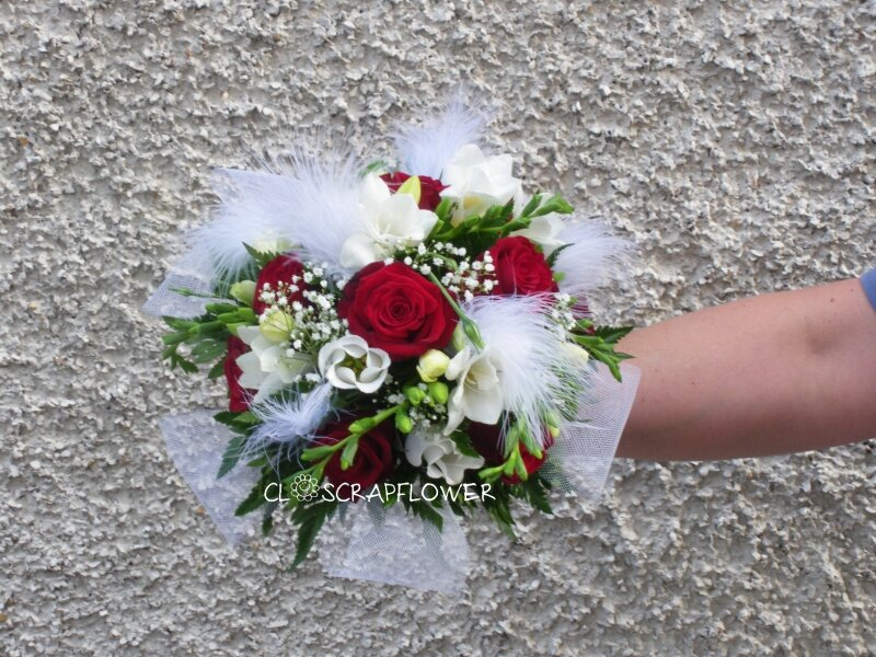 Bouquet de mari e rond plume photo de art flo bouquet de mari e closcrapflower - Bouquet de mariee rond ...