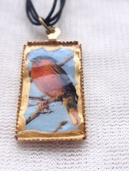 Collier pendentif oiseau