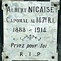 Caporal albert nicaise (1888 - 1914)