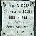 NICAISE Félix Albert