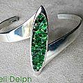 bracelet abalone vert