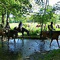 balade equestre gastronomique à La Lucerne d'Outremer (72)