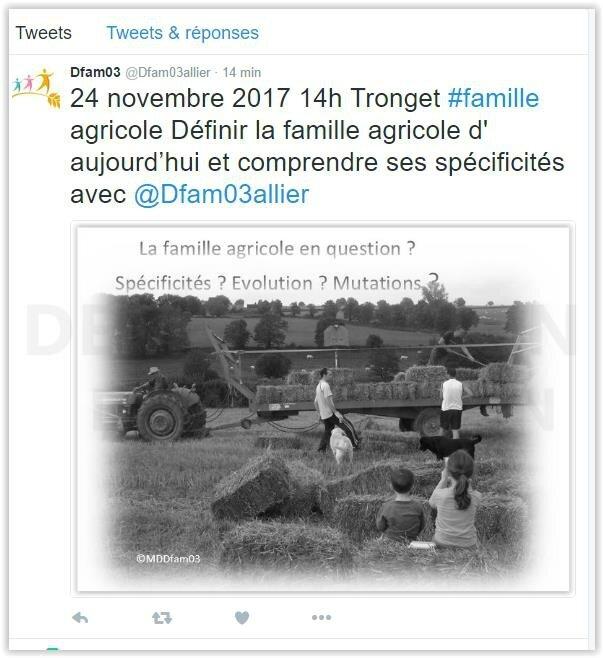 """Conférence-réflexion première approche sur le thème de """"la famille agricole"""" jeudi venez nombreux !"""