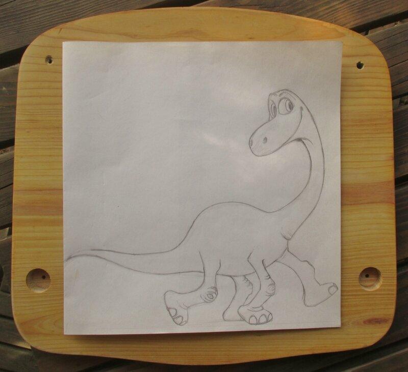 Croquis dinosaure - CélinArtisa