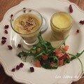 Crème de foie gras et mini terrine de foie gras, recette du 30 décembre 07