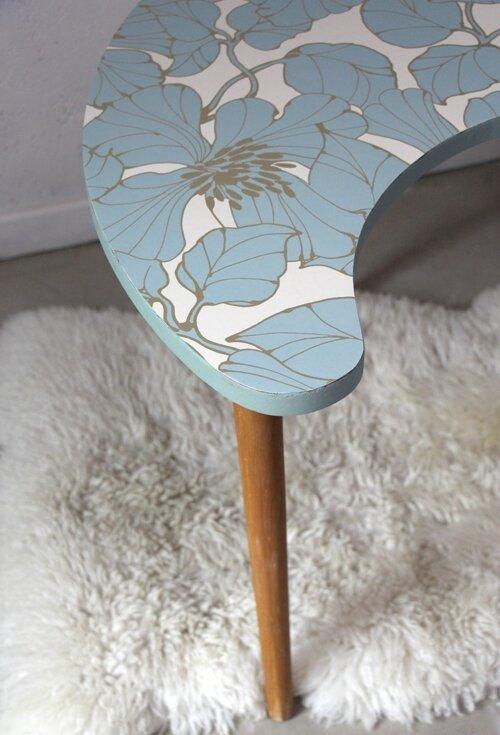 table-haricot-vintage-fleurs-detail
