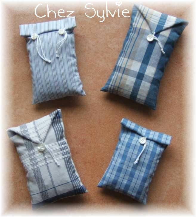 sachets lavande tissu chemise et bouton photo de couture bienvenue chez sylvie. Black Bedroom Furniture Sets. Home Design Ideas
