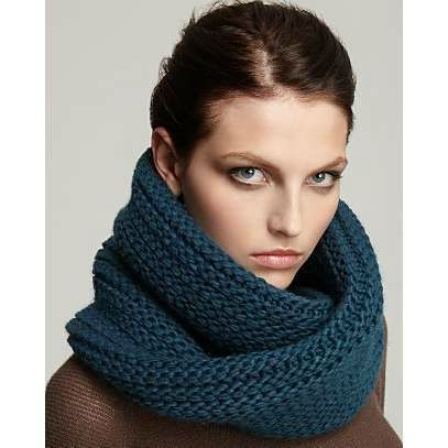modele tricot snood long