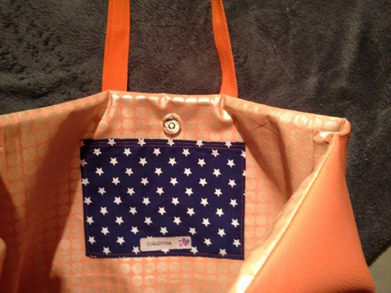 color block le sac galons orange lily sam. Black Bedroom Furniture Sets. Home Design Ideas