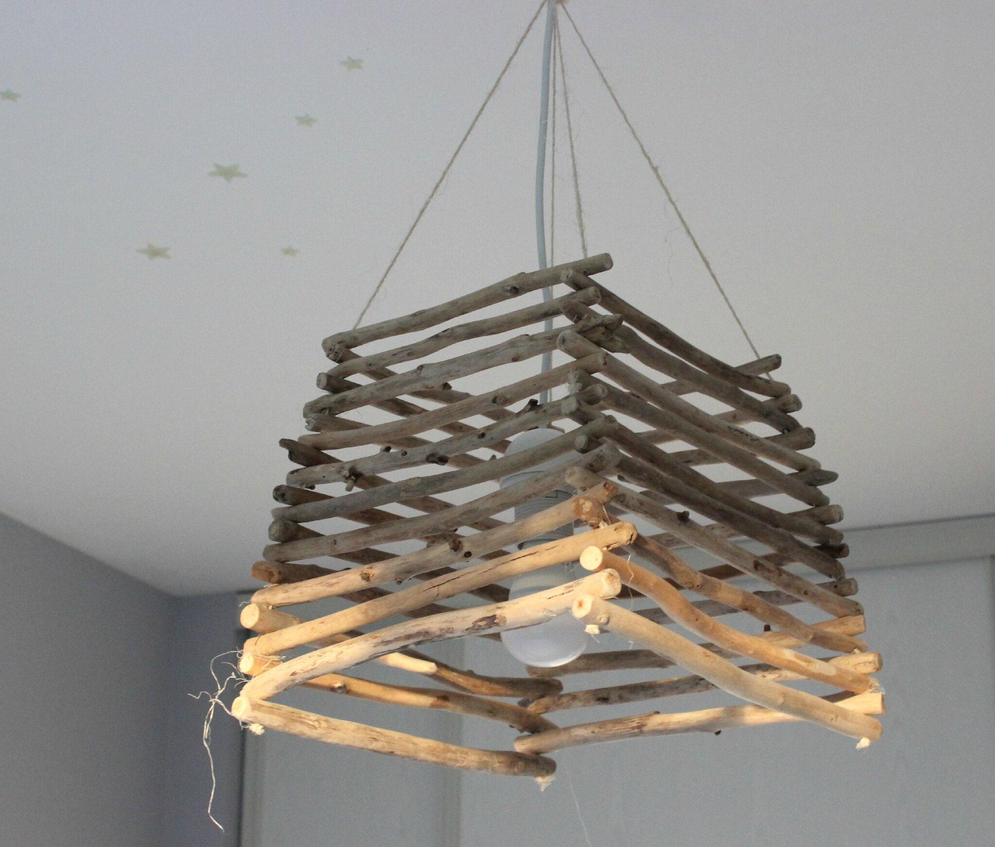 Creation en bois flott for Mobile en bois flotte