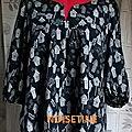 Tunique noire et grise - tendance couture n°5