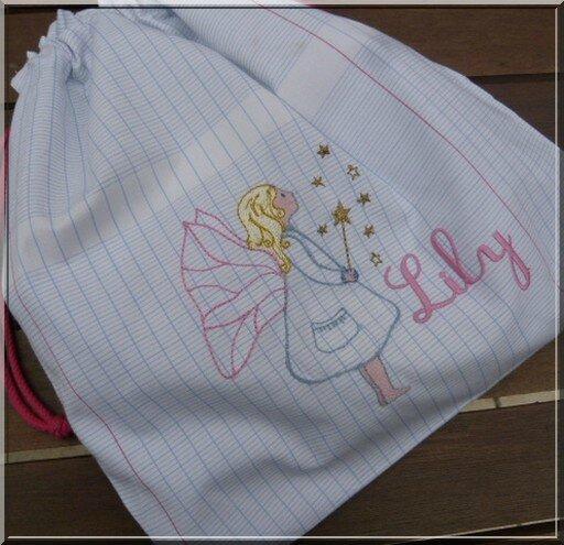 sac brodé Lily 300
