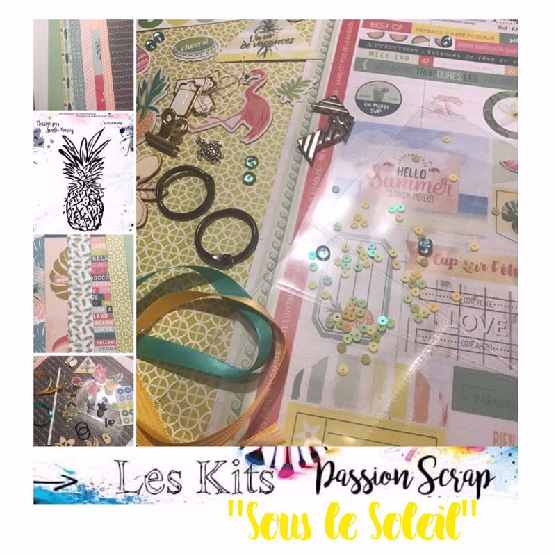 Passion Scrap Kit sous le soleil