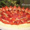 Tarte sable MAISON aux fraises MAISON et framboises conglo, ma premire 