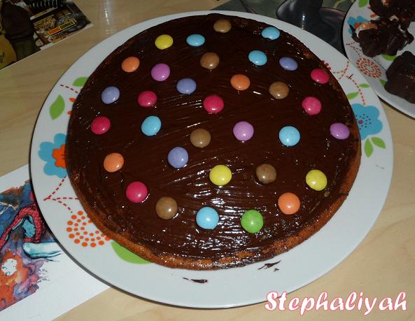 Top Gâteau choco-smarties - Chez Sylvie et Steph BF11