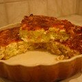 La quiche au saumon et aux poireaux