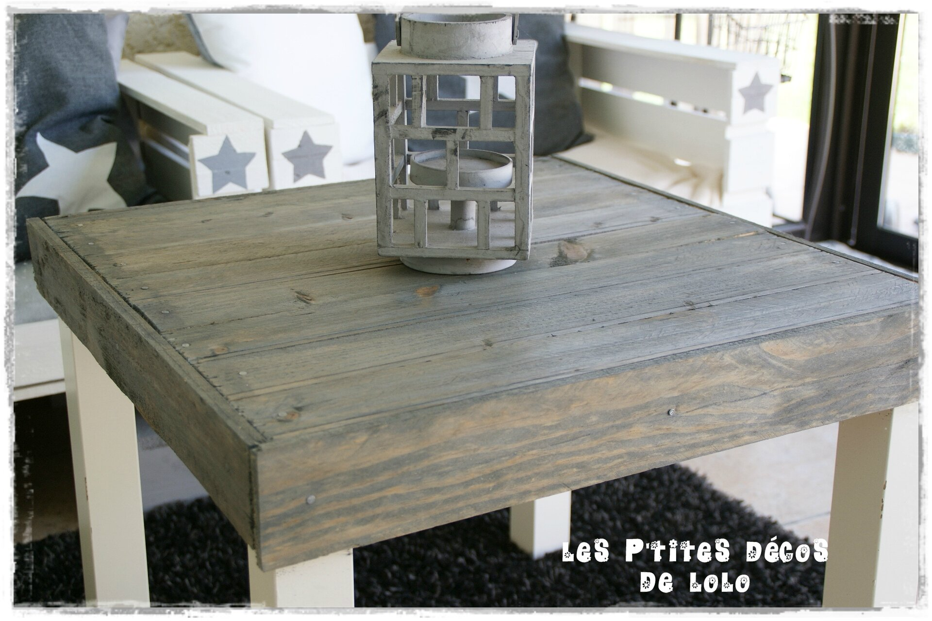 Decoration jardin recup id es de for Idee table basse recup