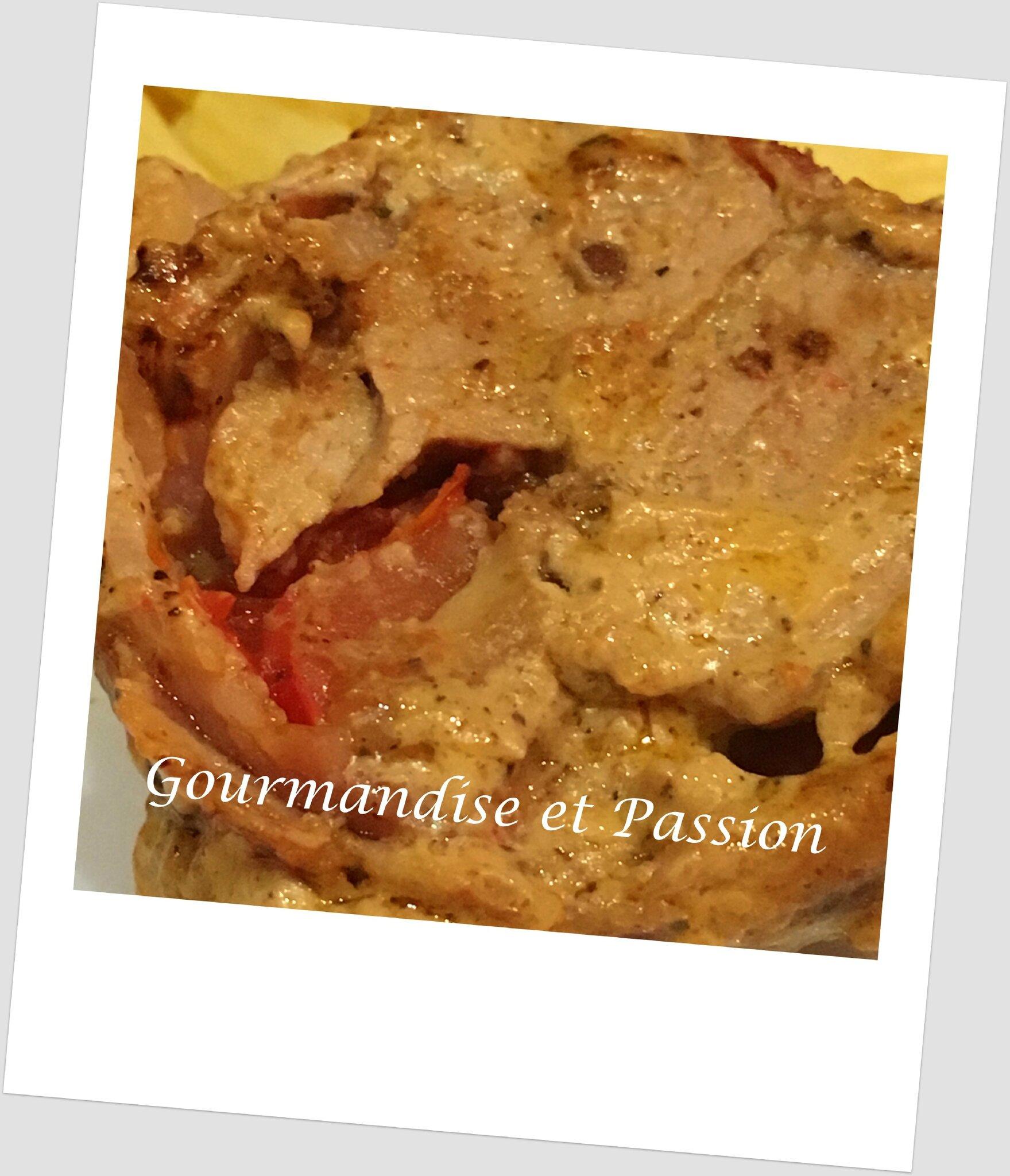 Filet mignon de porc au caviar de tomates séchées et mozzarella