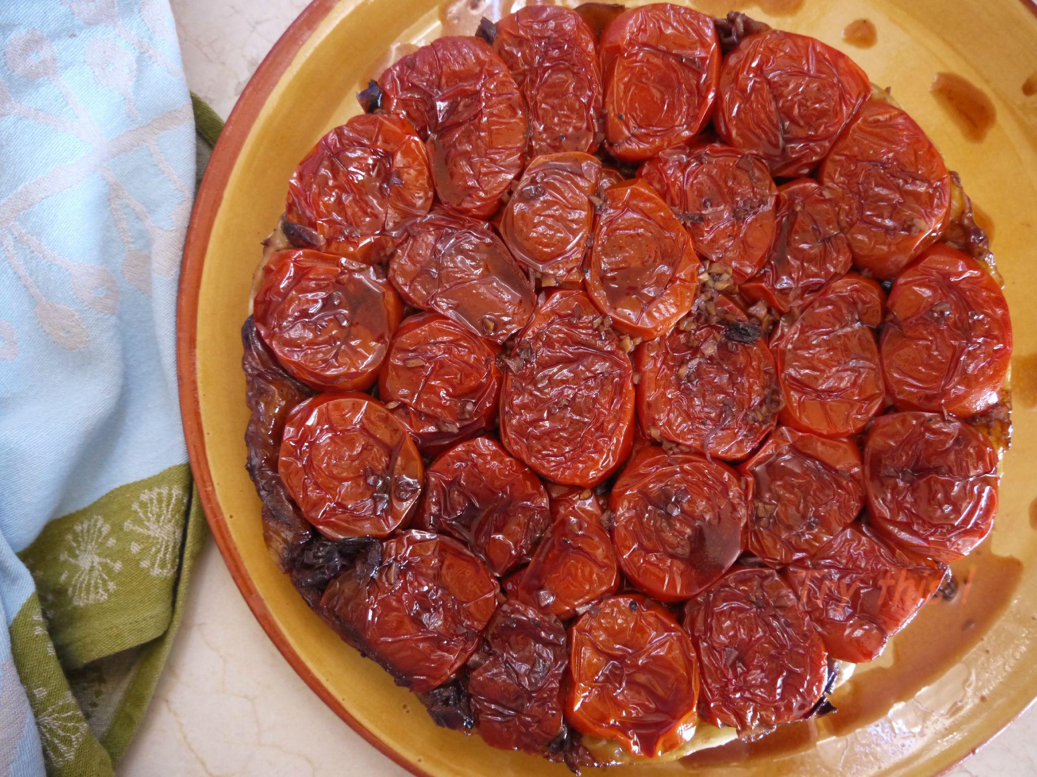 Tarte tatin aux tomates rôties