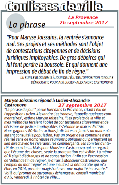 LAC contre MJM 26 et 27 septembre 2017