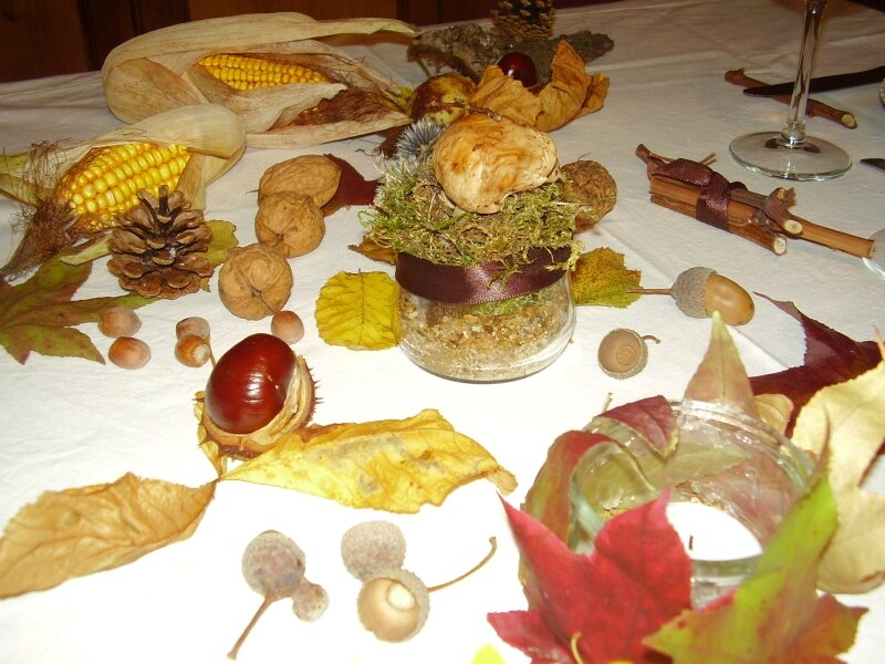 Table automne2 photo de d co de table le blog de sunshine for Centre de table automne