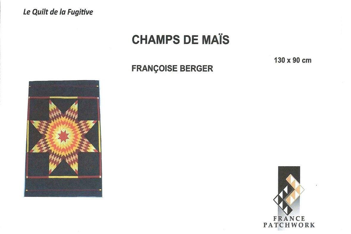 04-Françoise BERGER- CHAMPS DE MAÏS-Quilt la Fuitive