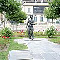 Corsier-sur-Vevey, rives du lac Leman, statue de Chaplin (Suisse)
