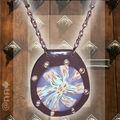 Collier Fimo étoile trans marron et bleu