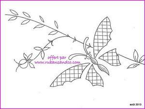 papillon à broder 2