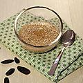 Perles du japon au lait de coco et feve tonka