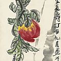 Qi baishi (1863-1957), peaches, 1937
