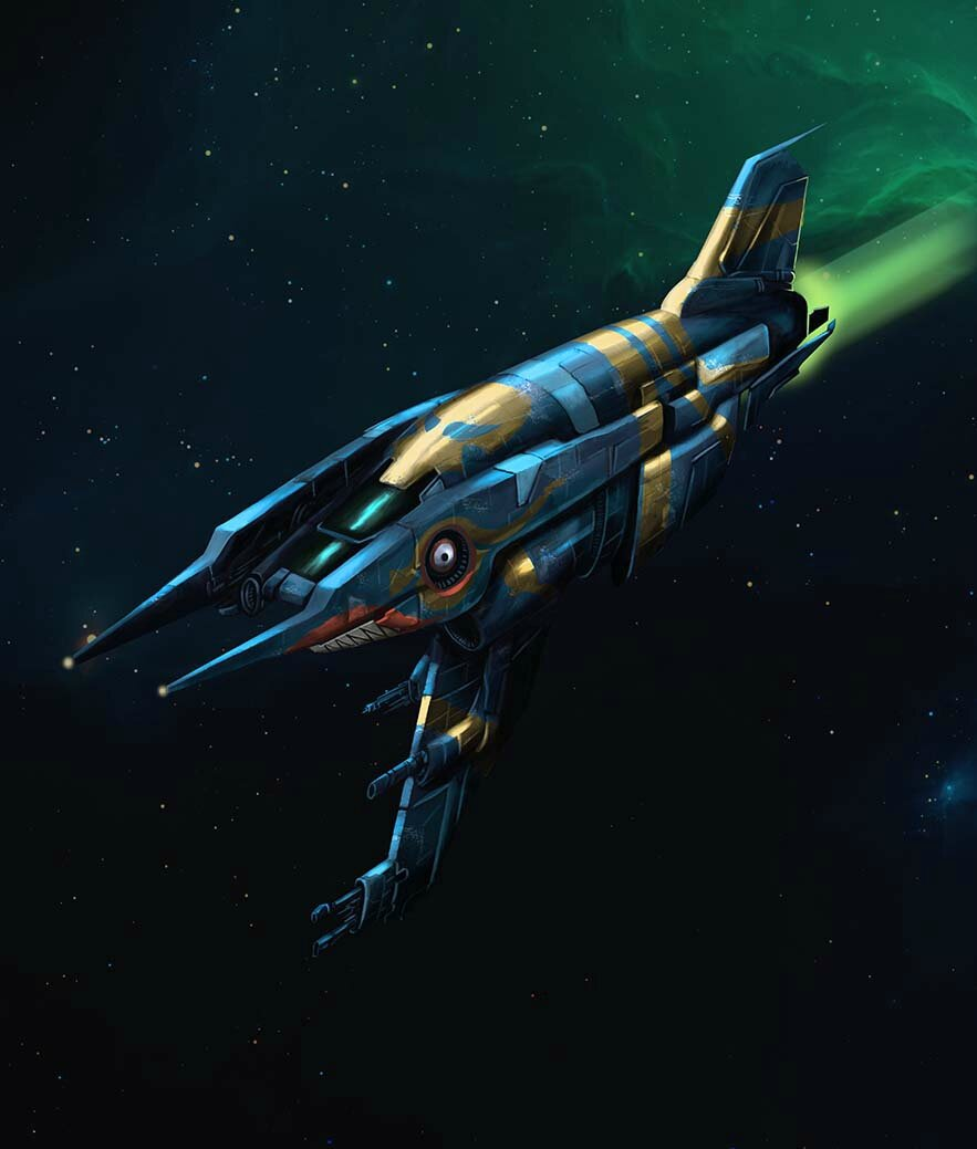 Heavy starfighter
