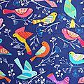 342 - Oiseaux colorés fond marine