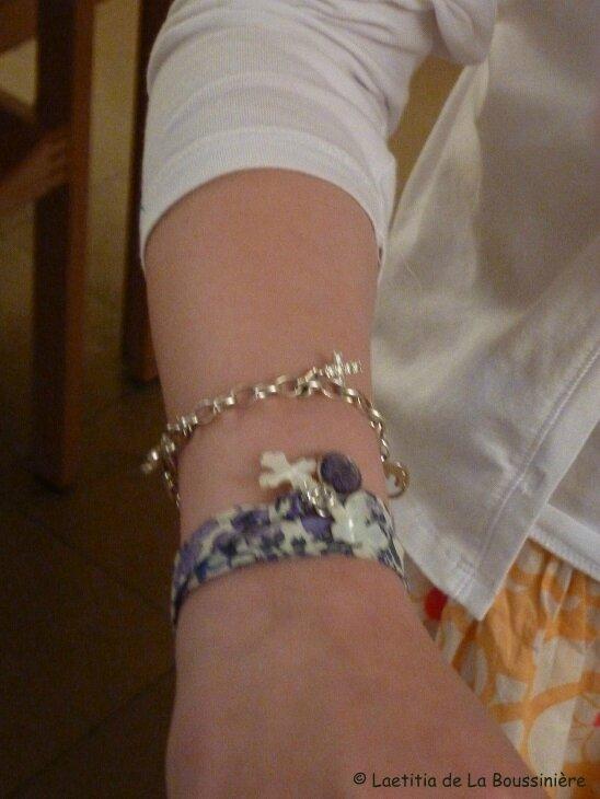 Bracelet de l'Annonciation porté