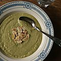 Soupe de brocoli  l'amande