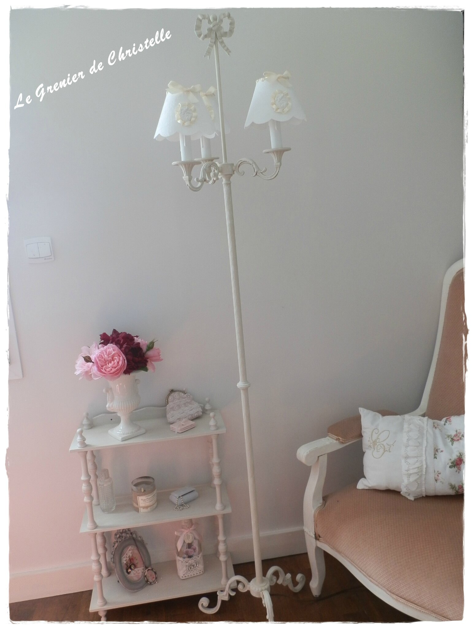 Lampadaire patin number two le grenier de for Lampadaire shabby