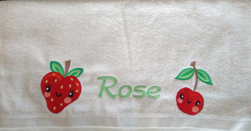 serviette rose