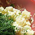 Mon jardin....et ma salade de pommes de terre aux fines herbes