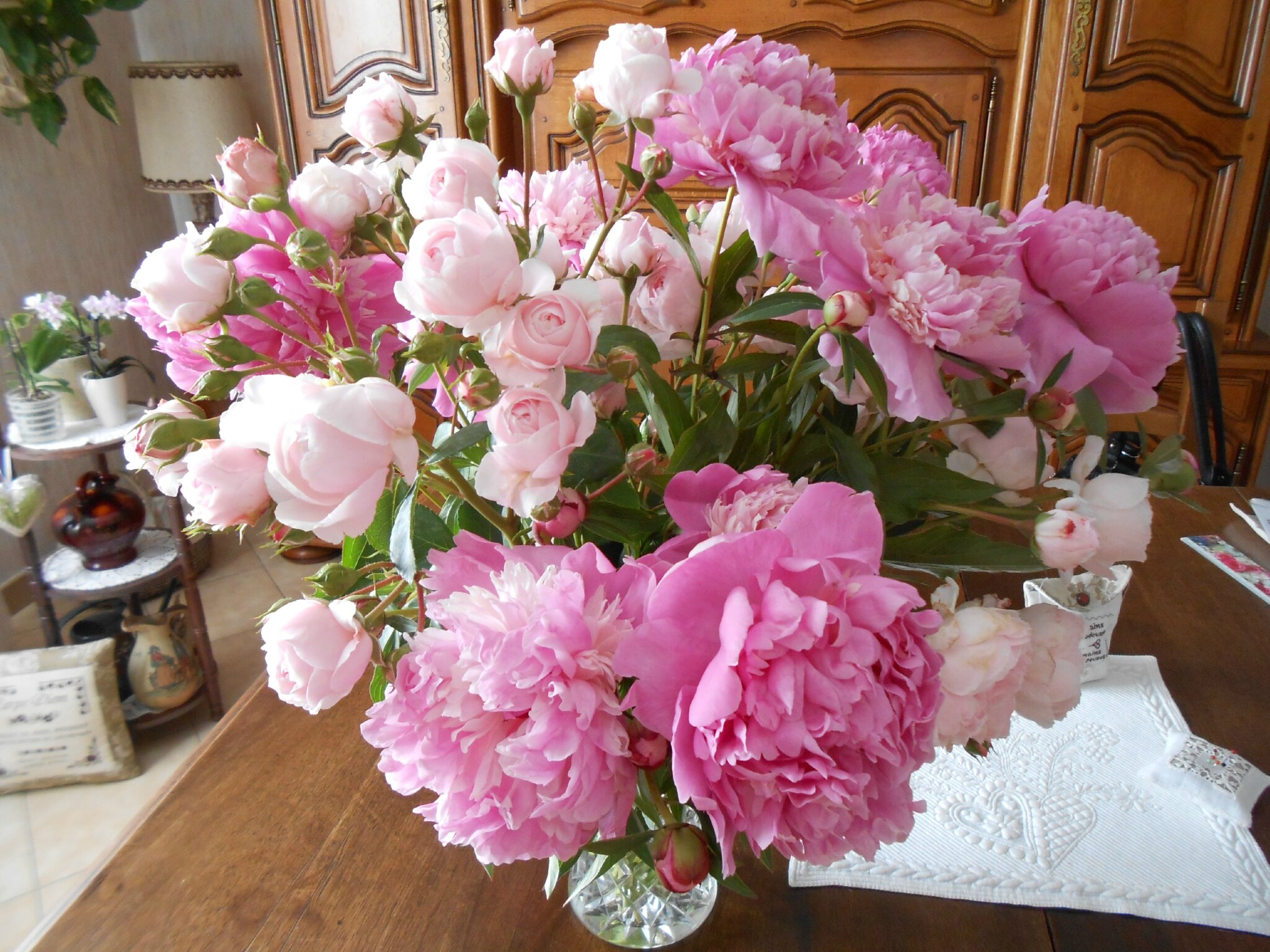 pivoines et roses 4 de Au jardin Les Trésors de