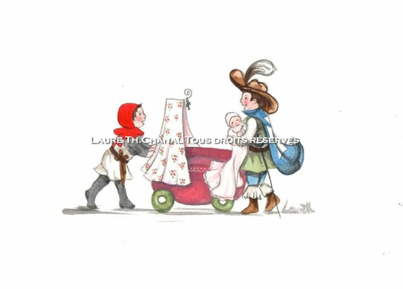Super Dessin pour faire-part de naissance - Photo de 3 Dessine-moiun  RG54