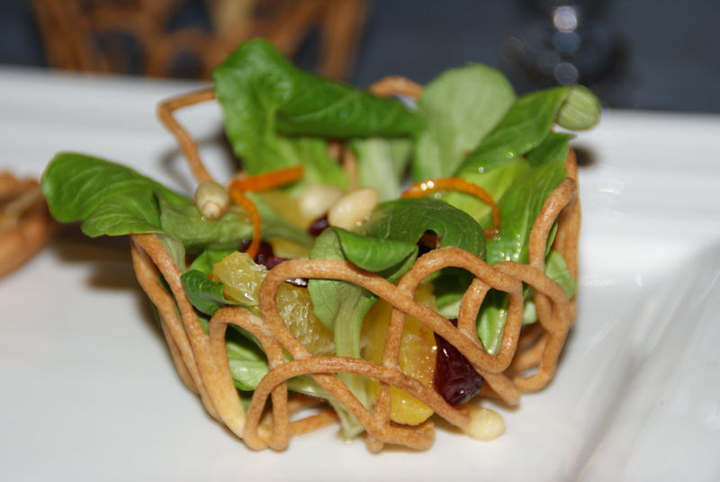 Petit panier de salade à l'orange