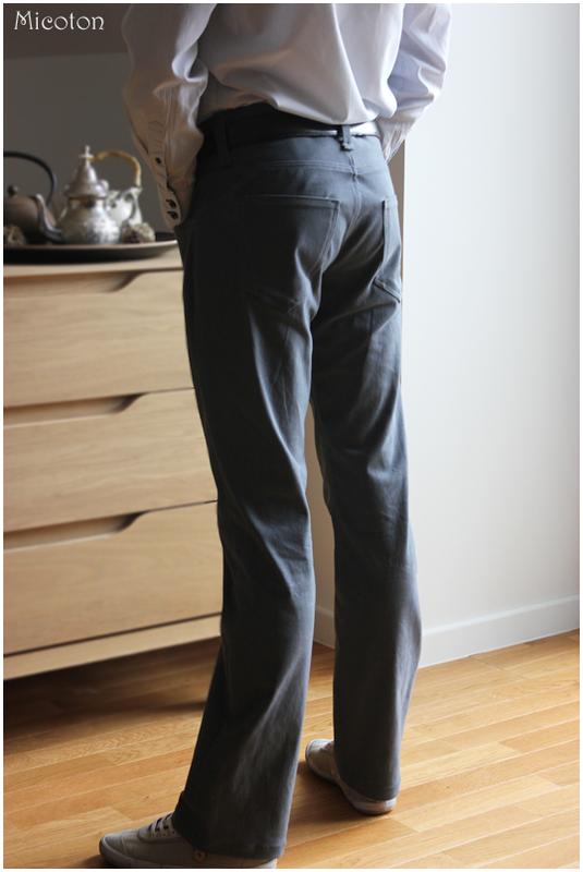 pantalon homme gabardine porté 4