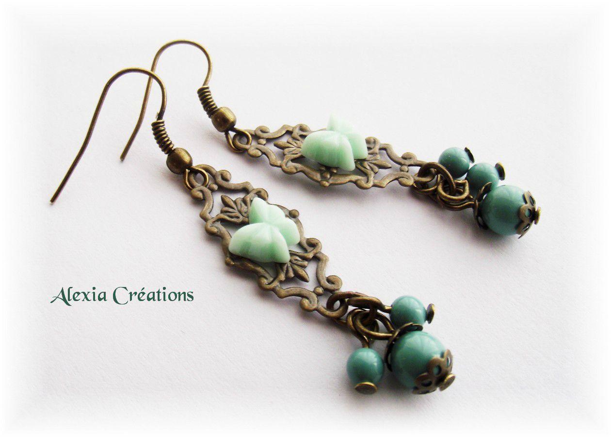 Boucles d'oreilles Jade Butterfly 80340009_o