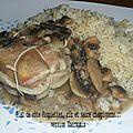 Paupiettes, riz et champignons... version thermomix